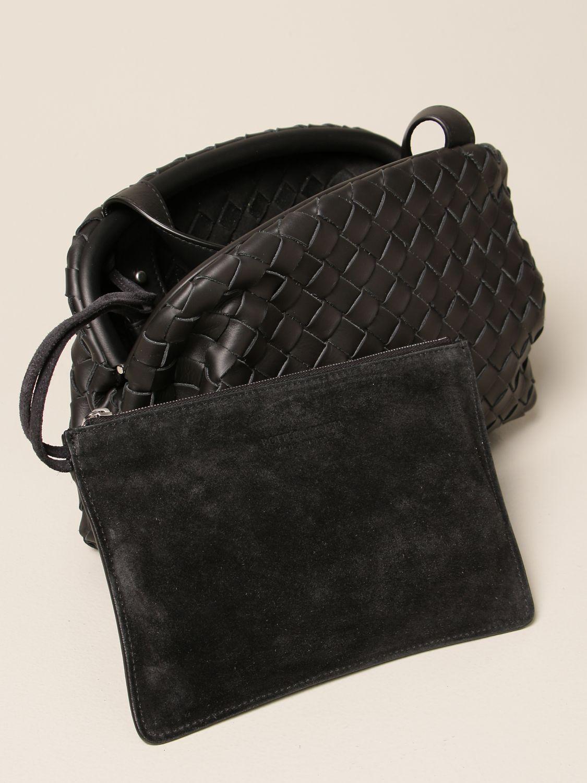 Shoulder bag Bottega Veneta: Bottega Veneta Hidrology Salon 01 bag in woven leather black 3