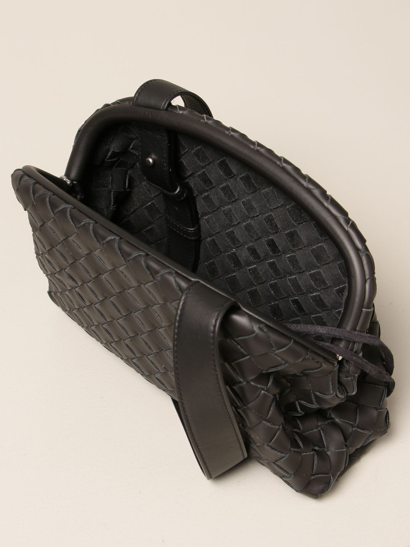 Shoulder bag Bottega Veneta: Bottega Veneta Hidrology Salon 01 bag in woven leather black 4
