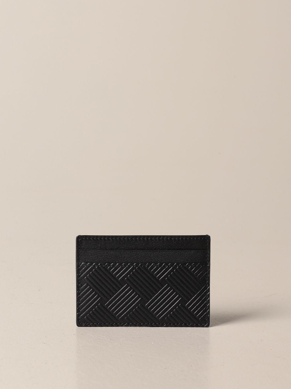 Wallet Bottega Veneta: Salon 01 credit card holder by Bottega Veneta in printed leather black 1