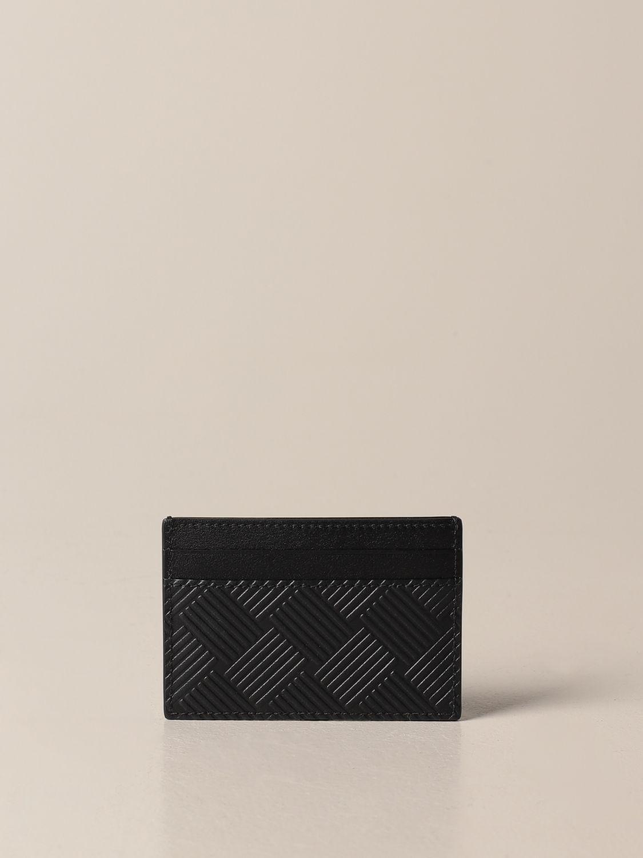 Wallet Bottega Veneta: Salon 01 credit card holder by Bottega Veneta in printed leather black 2