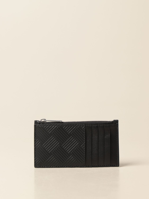 Wallet Bottega Veneta: Bottega Veneta credit card holder in printed leather black 1