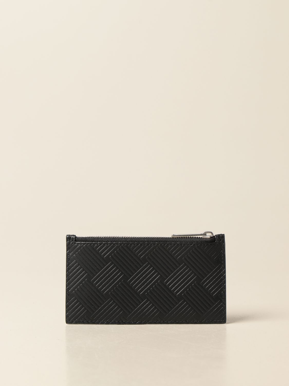 Wallet Bottega Veneta: Bottega Veneta credit card holder in printed leather black 2