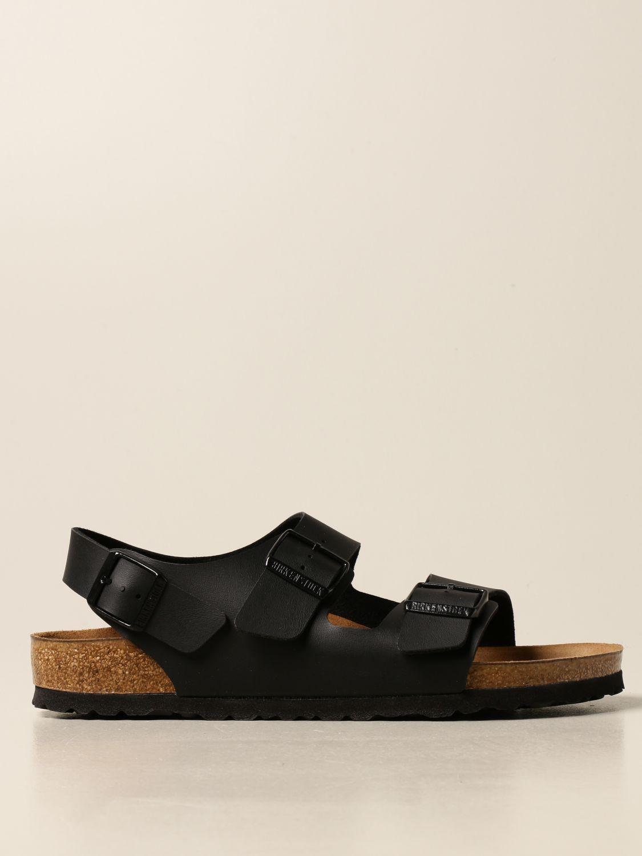Sandals Birkenstock: Milano Birkenstock slipper sandal black 1