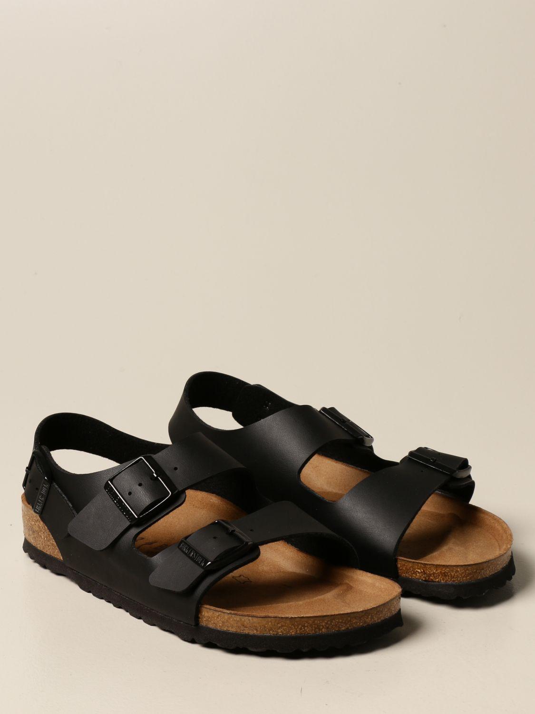 Sandals Birkenstock: Milano Birkenstock slipper sandal black 2