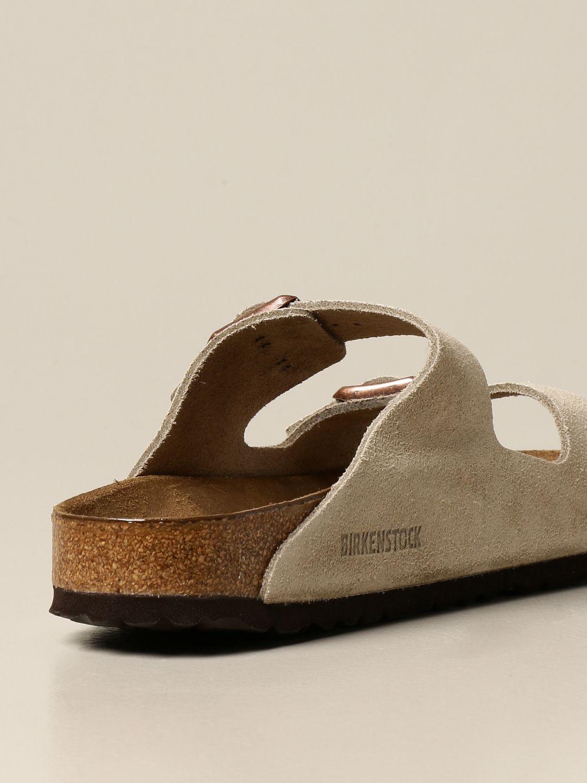 Sandals Birkenstock: Arizona Birkenstock slipper sandal in suede beige 3