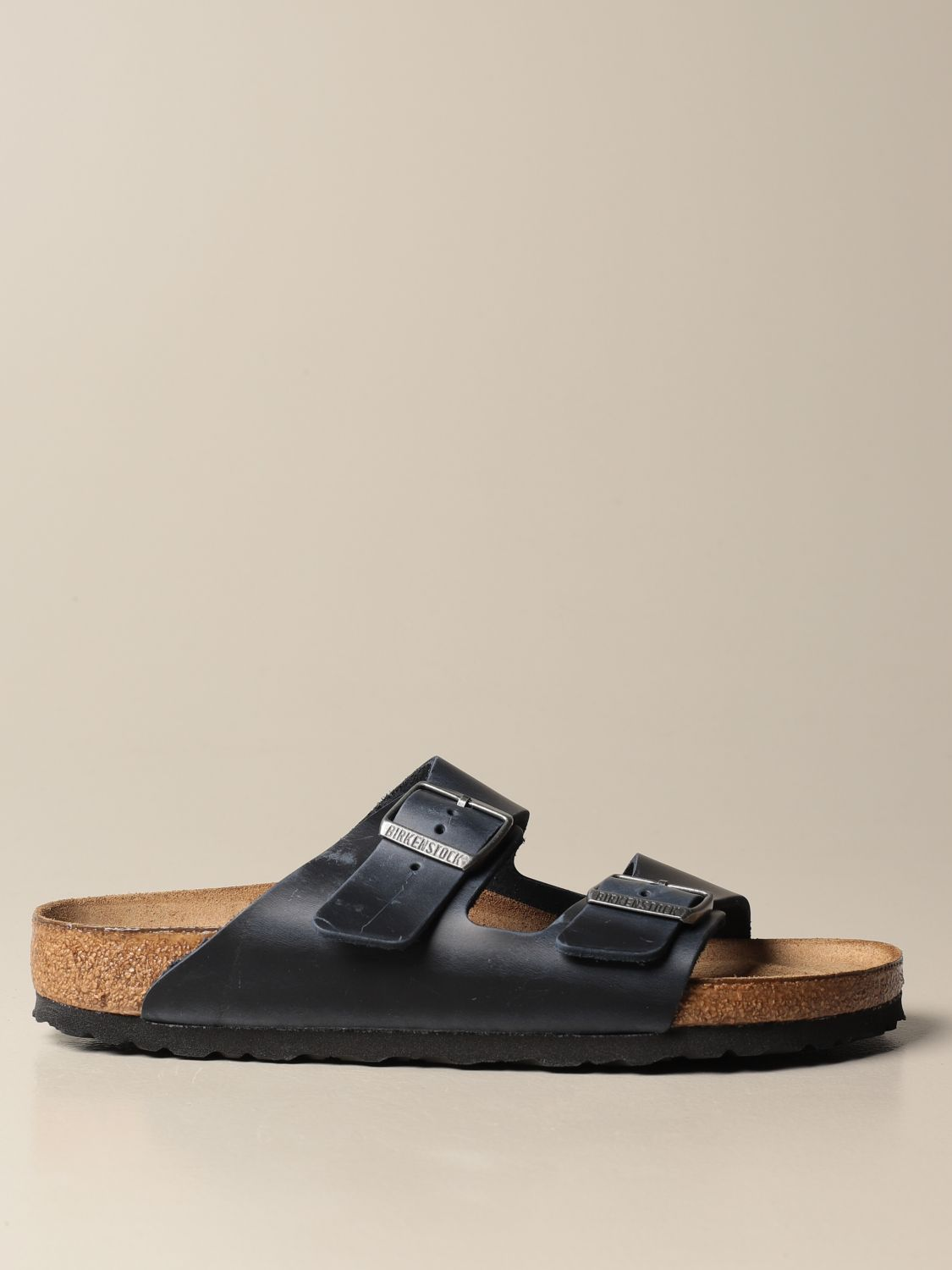 Sandals Birkenstock: Shoes men Birkenstock navy 1