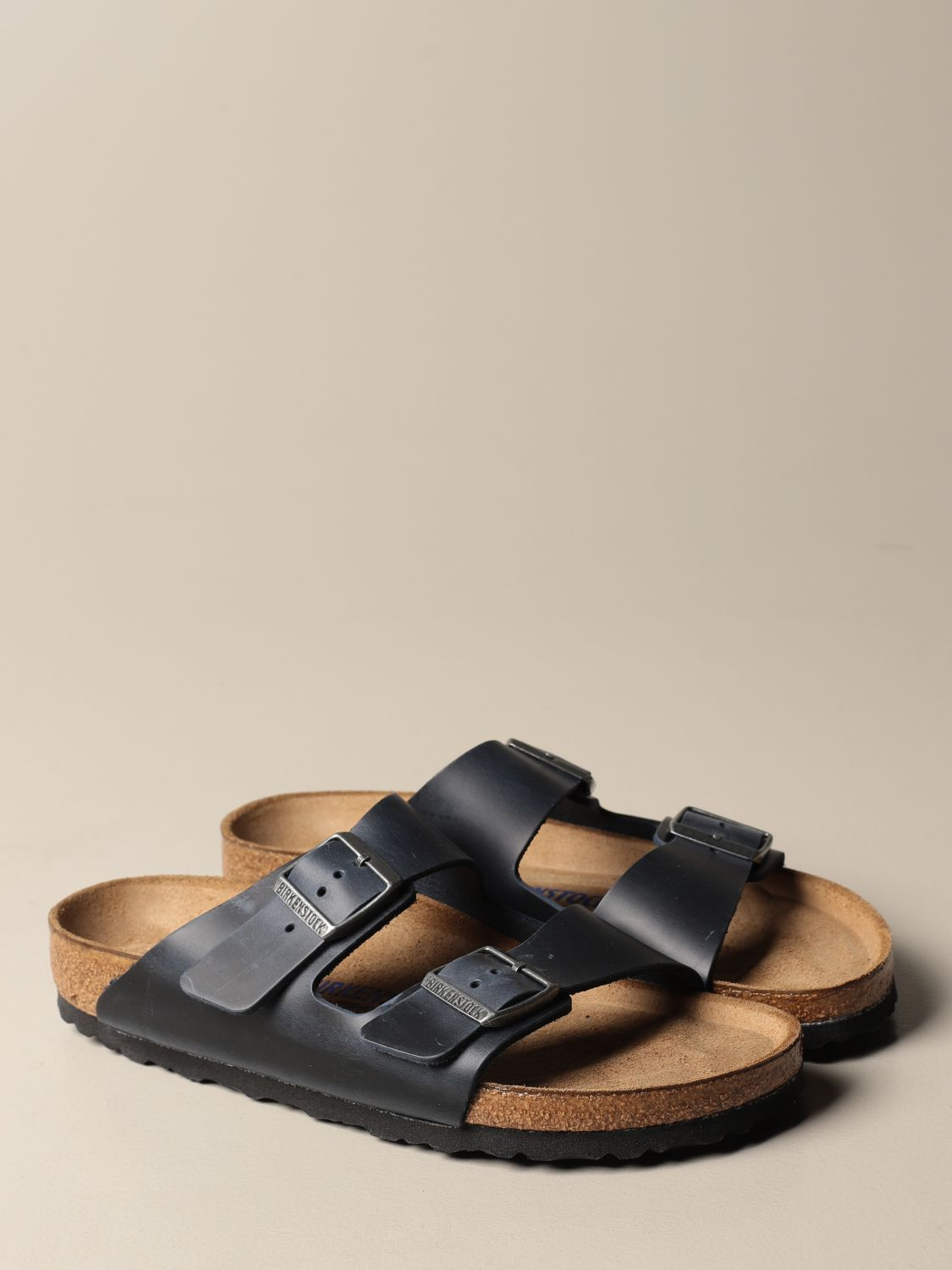 Sandals Birkenstock: Shoes men Birkenstock navy 2