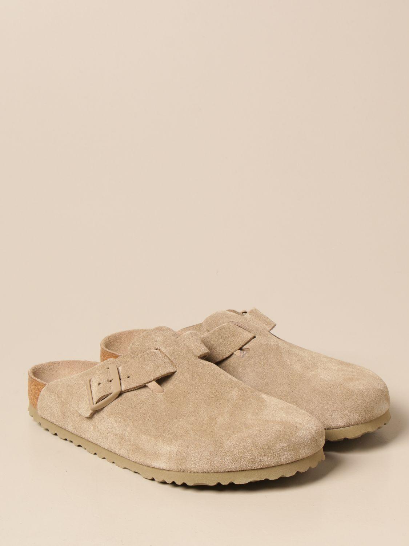 Sandals Birkenstock: Boston Birkenstock sabot sandals in suede kaki 2