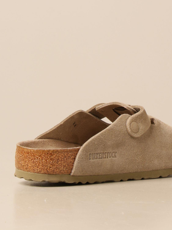 Sandals Birkenstock: Boston Birkenstock sabot sandals in suede kaki 3