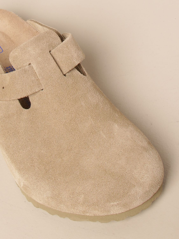 Sandals Birkenstock: Boston Birkenstock sabot sandals in suede kaki 4