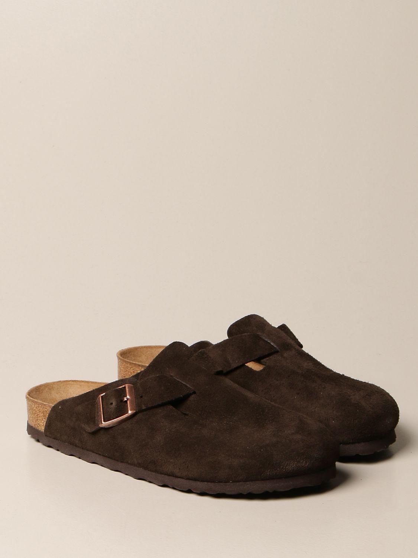 Sandals Birkenstock: Boston Birkenstock sabot sandals in suede cocoa 2
