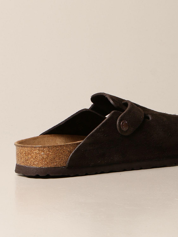 Sandals Birkenstock: Boston Birkenstock sabot sandals in suede cocoa 3