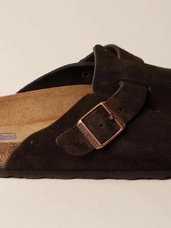 Sandals Birkenstock: Boston Birkenstock sabot sandals in suede cocoa 4