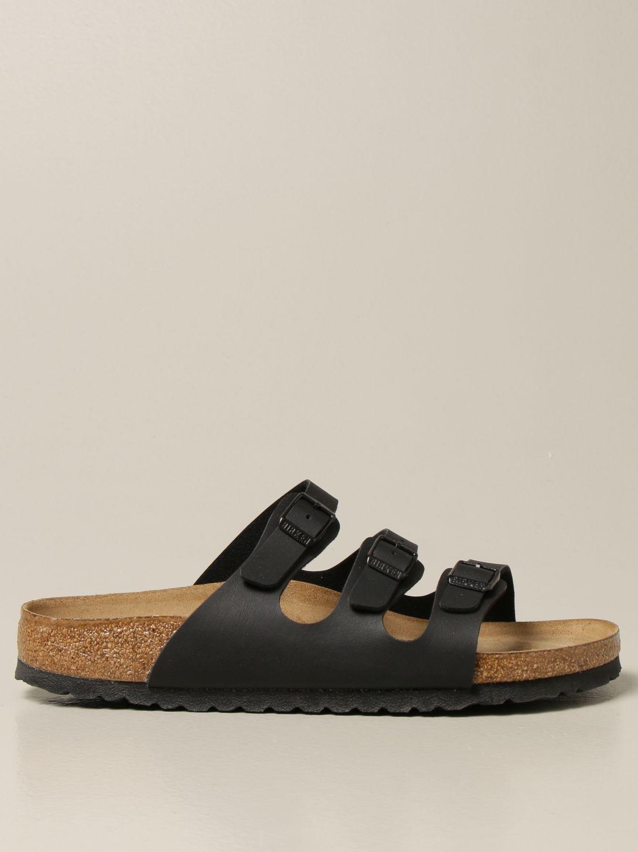 Sandali Birkenstock: Sandalo a ciabatta Florida Birkenstock nero 1