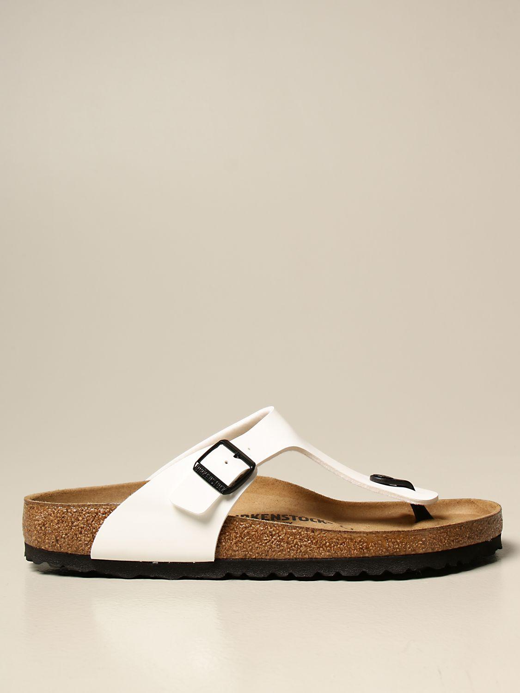 Sandali Birkenstock: Sandalo a infradito Gizeh Birkenstock in vernice bianco 1