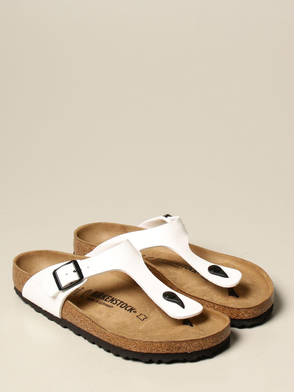 Sandali Birkenstock: Sandalo a infradito Gizeh Birkenstock in vernice bianco 2