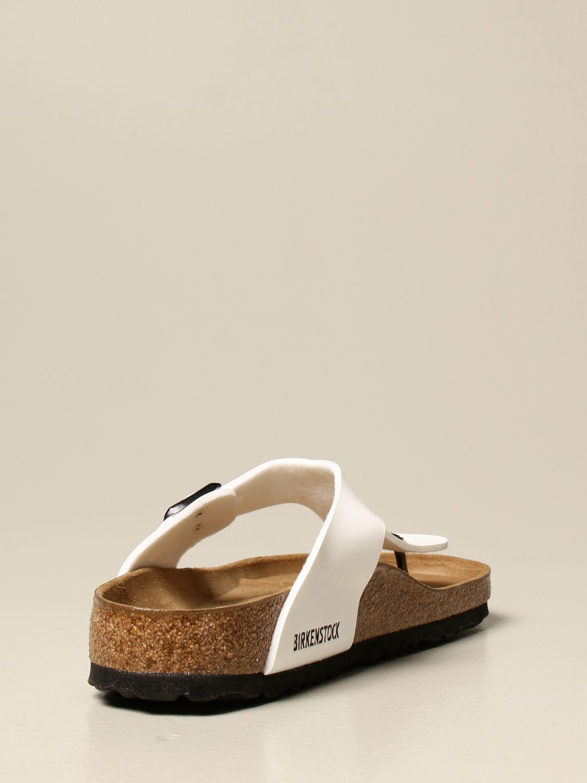 Sandali Birkenstock: Sandalo a infradito Gizeh Birkenstock in vernice bianco 3