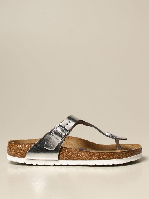 Sandali Birkenstock: Sandalo a infradito Gizeh Birkenstock argento 1