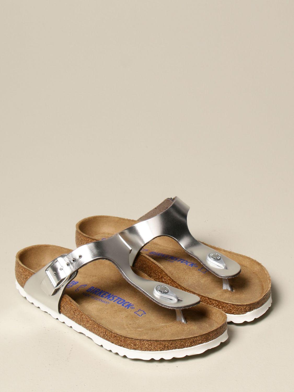 Sandali Birkenstock: Sandalo a infradito Gizeh Birkenstock argento 2