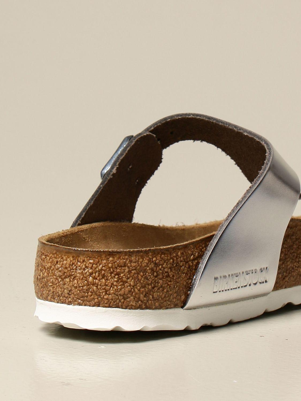Sandali Birkenstock: Sandalo a infradito Gizeh Birkenstock argento 3
