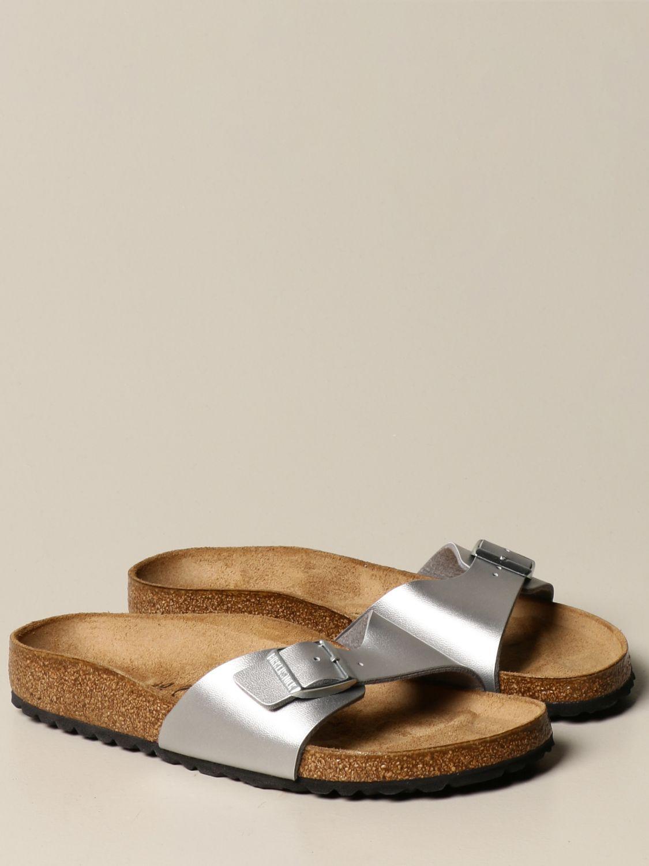 凉鞋 Birkenstock: Madrid Birkenstock 拖鞋凉鞋 银色 2