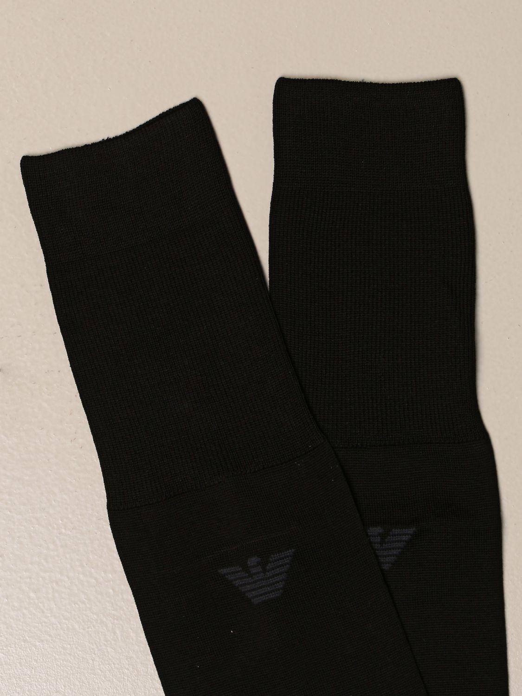 袜子 Emporio Armani Underwear: 袜子 男士 Emporio Armani Underwear 黑色 2
