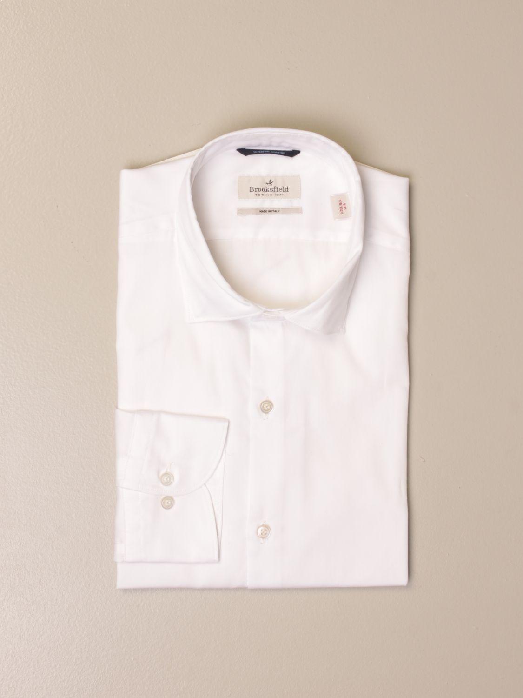 Shirt Brooksfield: Brooksfield shirt in superfine cotton white 1