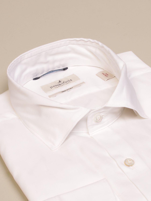 Shirt Brooksfield: Brooksfield shirt in superfine cotton white 2