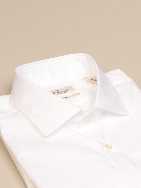 Shirt Brooksfield: Brooksfield shirt in stretch poplin white 2