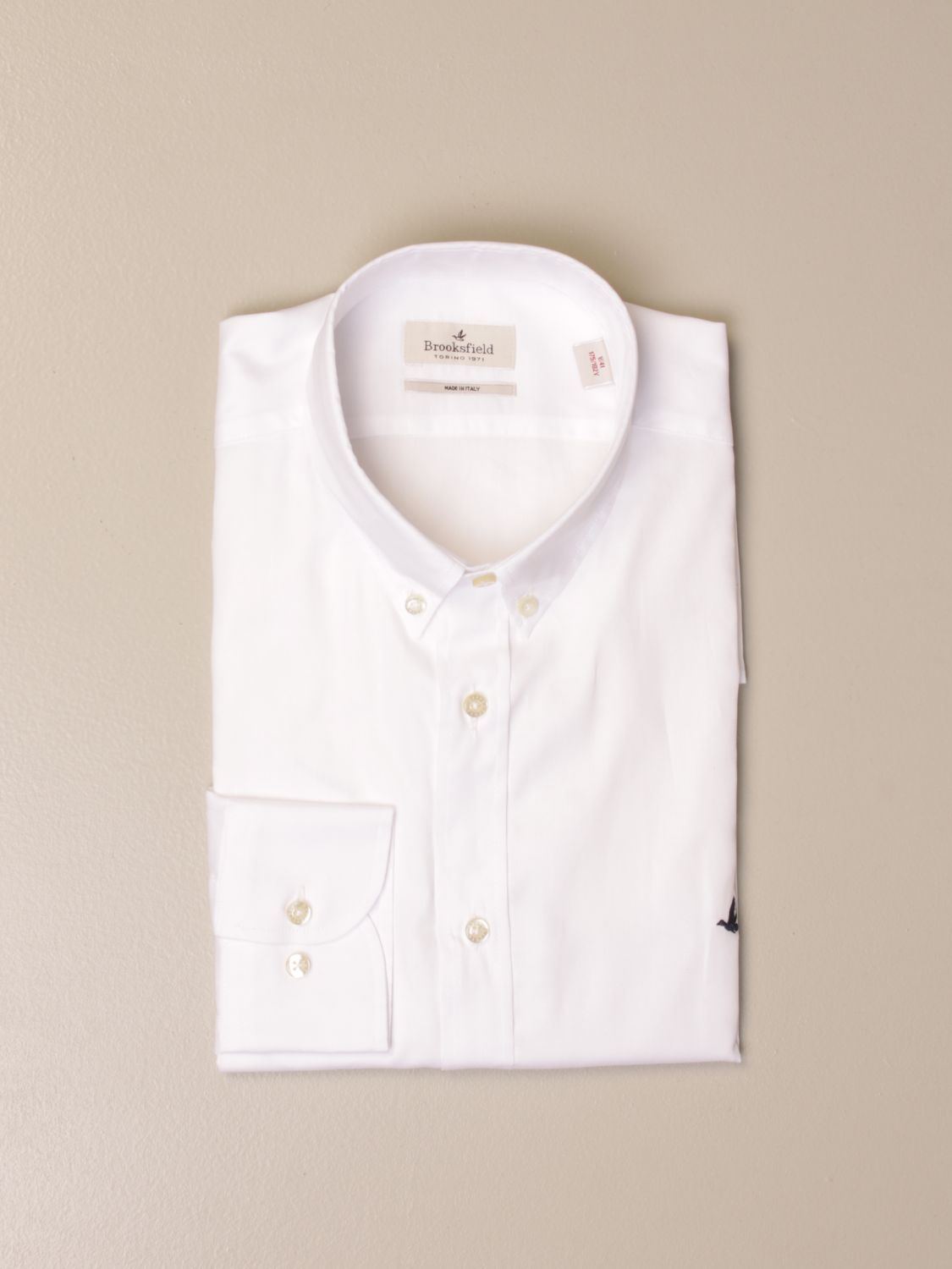 Shirt Brooksfield: Brooksfield shirt with button down collar white 1