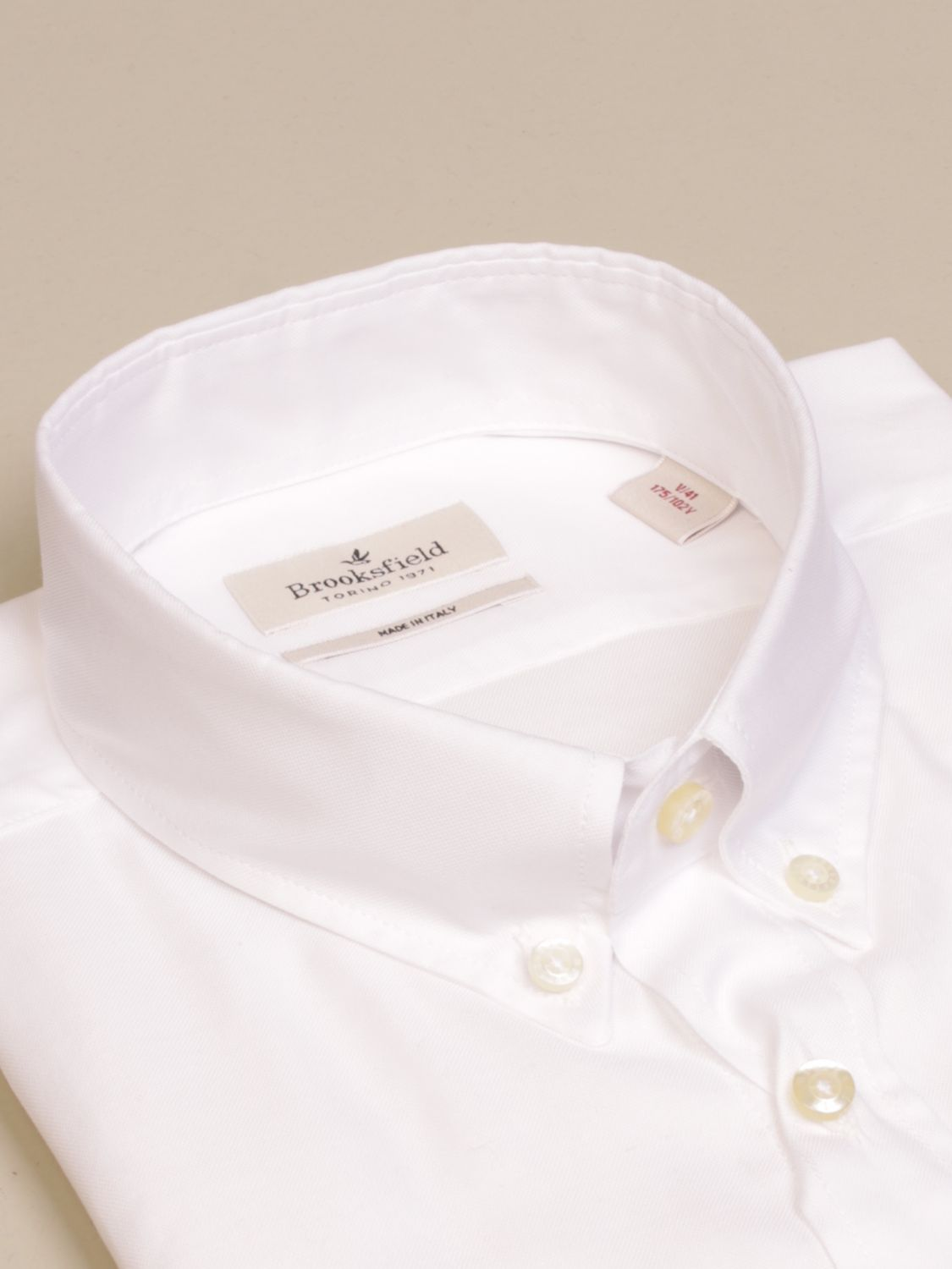 Shirt Brooksfield: Brooksfield shirt with button down collar white 2