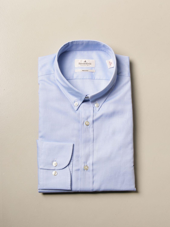 Shirt Brooksfield: Brooksfield Oxford shirt in poplin with button down collar sky blue 1
