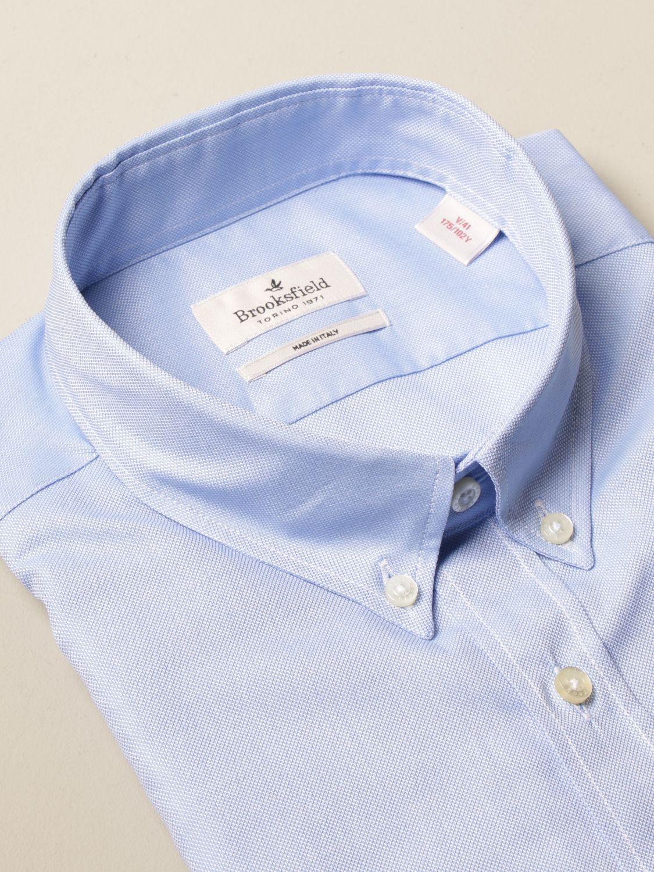 Shirt Brooksfield: Brooksfield Oxford shirt in poplin with button down collar sky blue 2