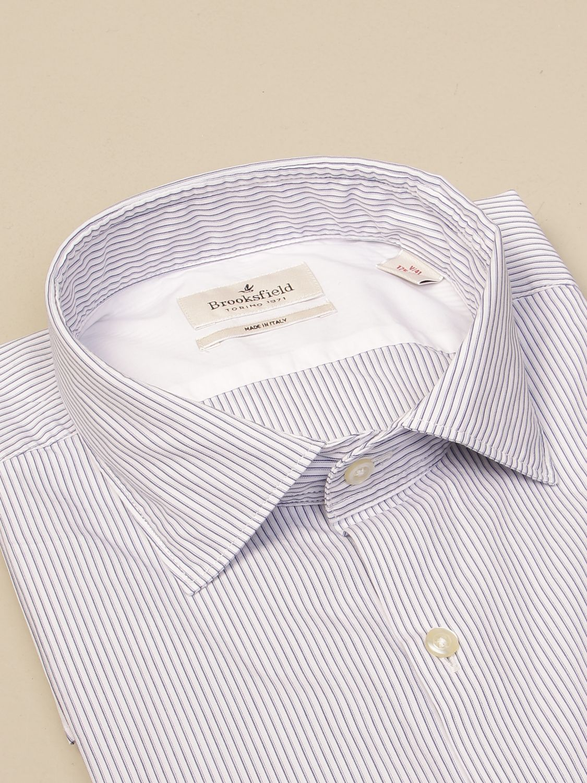 Shirt Brooksfield: Brooksfield shirt in striped poplin white 2
