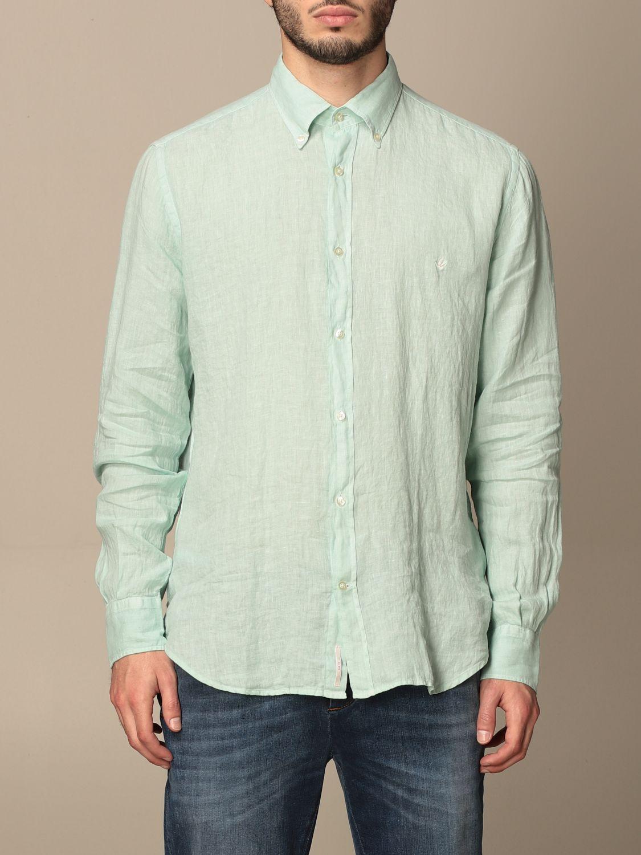 Shirt Brooksfield: Brooksfield linen shirt with button down collar water 1