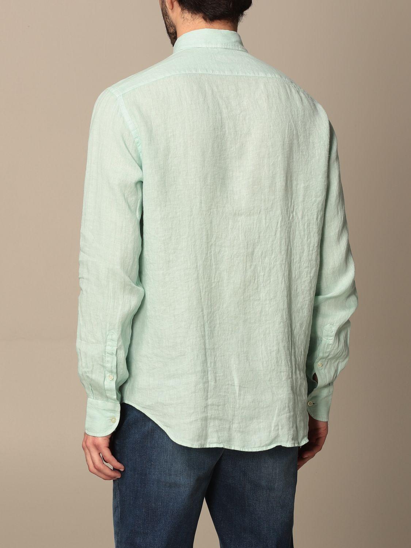 Shirt Brooksfield: Brooksfield linen shirt with button down collar water 3