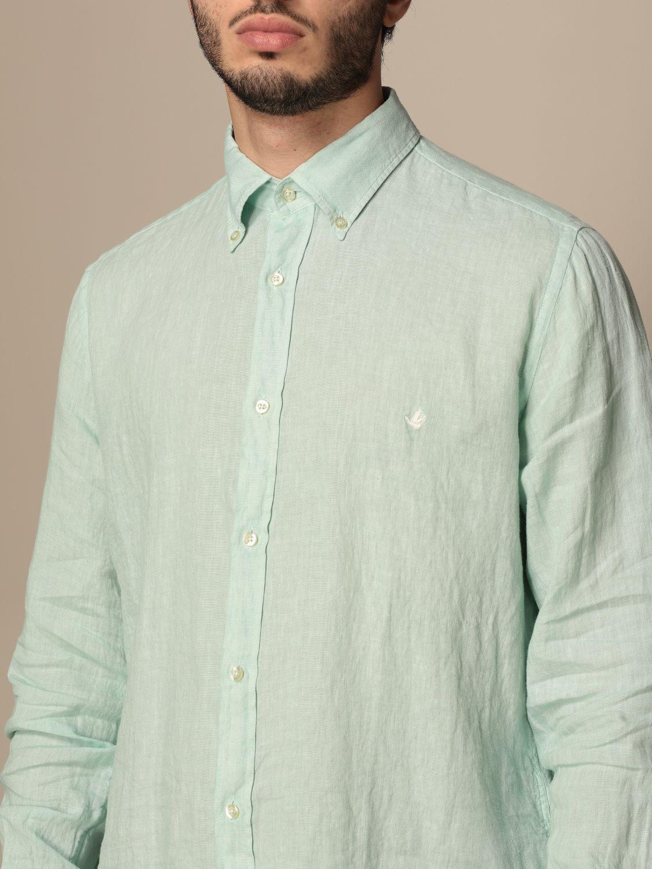 Shirt Brooksfield: Brooksfield linen shirt with button down collar water 4
