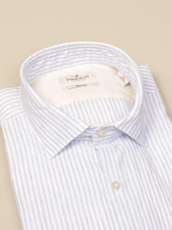 Shirt Brooksfield: Brooksfield shirt in drumstick linen sky blue 2