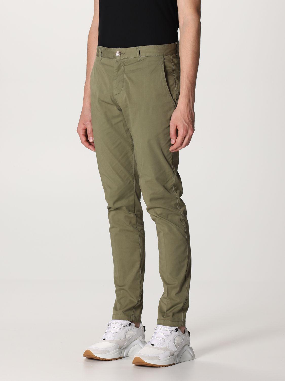 Pantalone Brooksfield: Pantalone Brooksfield in gabardine stretch verde 3