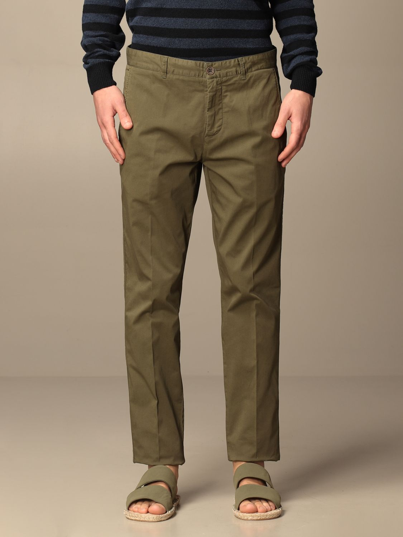 Pantalone Brooksfield: Pantalone Brooksfield in gabardine stretch militare 1