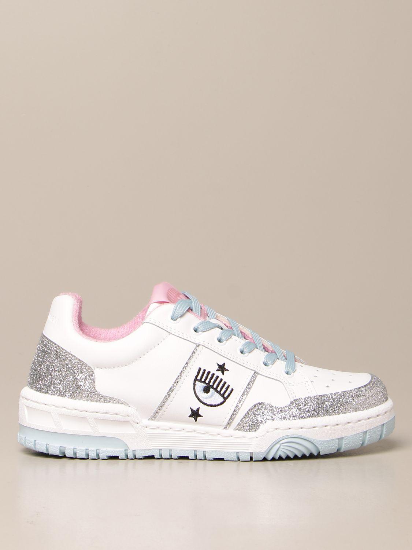 Sneakers Chiara Ferragni: Schuhe damen Chiara Ferragni silber 1