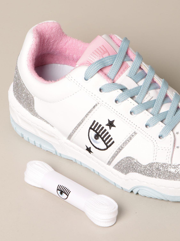 Sneakers Chiara Ferragni: Schuhe damen Chiara Ferragni silber 4