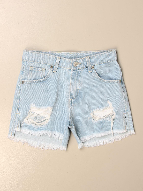 Pantalones cortos Chiara Ferragni: Pantalones cortos niños Chiara Ferragni stone washed 1