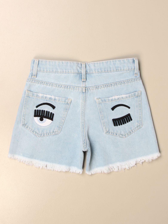 Pantalones cortos Chiara Ferragni: Pantalones cortos niños Chiara Ferragni stone washed 2