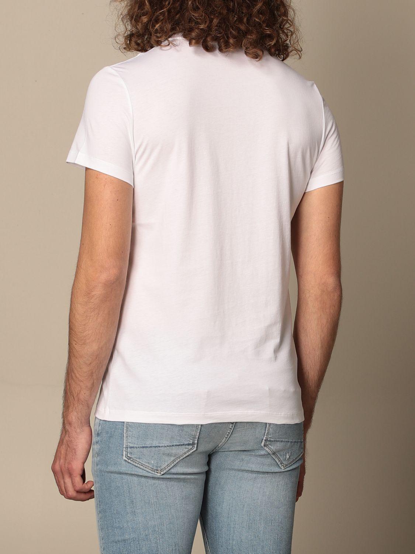 T-shirt Balmain: Balmain cotton T-shirt with laminated logo white 2