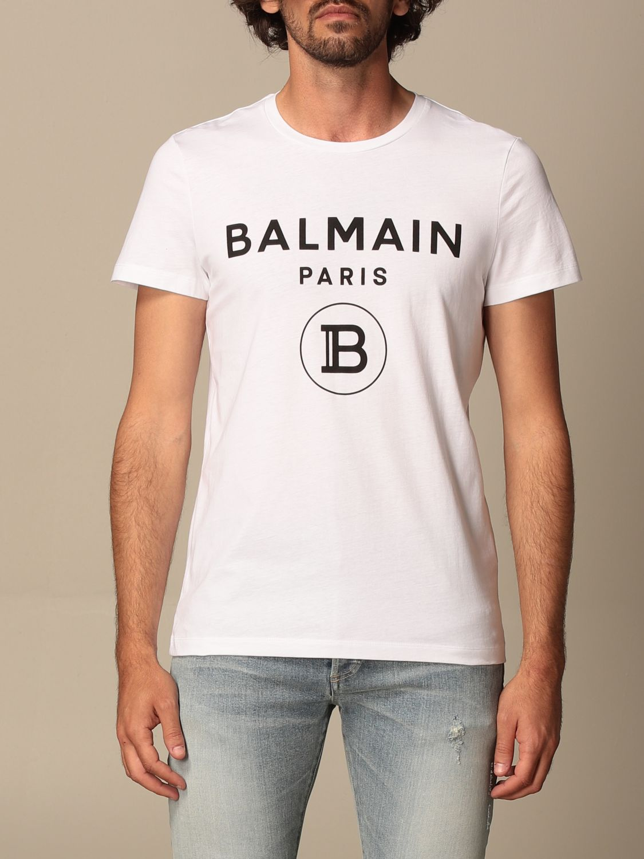 T-shirt Balmain: Balmain cotton T-shit with logo white 1