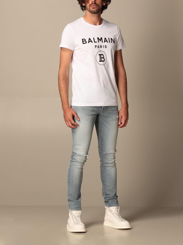 T-shirt Balmain: Balmain cotton T-shit with logo white 2