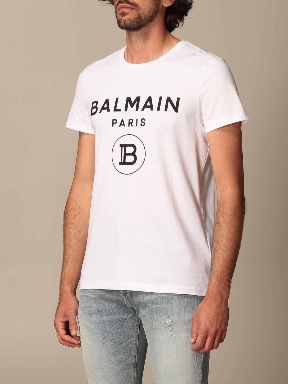 T-shirt Balmain: Balmain cotton T-shit with logo white 4