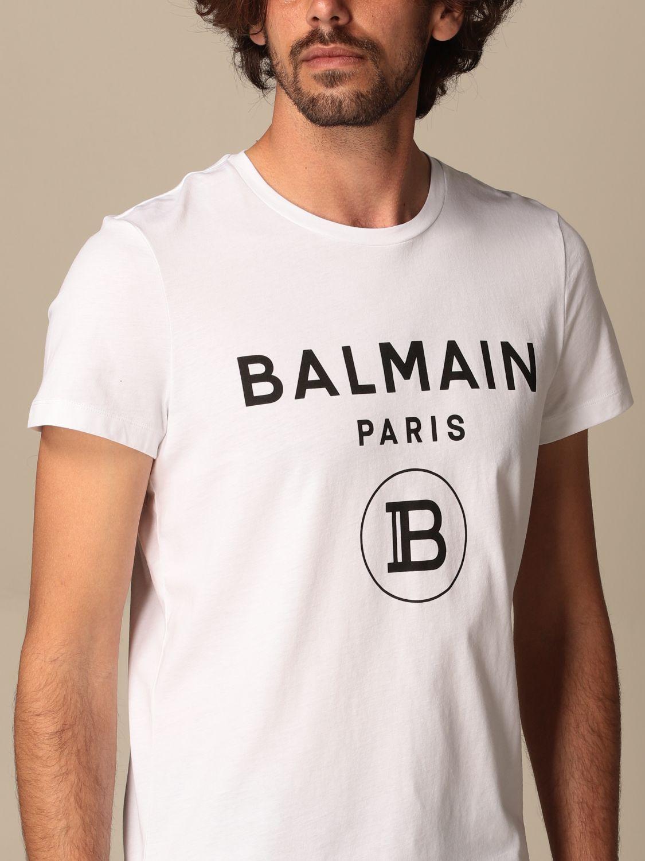 T-shirt Balmain: Balmain cotton T-shit with logo white 5