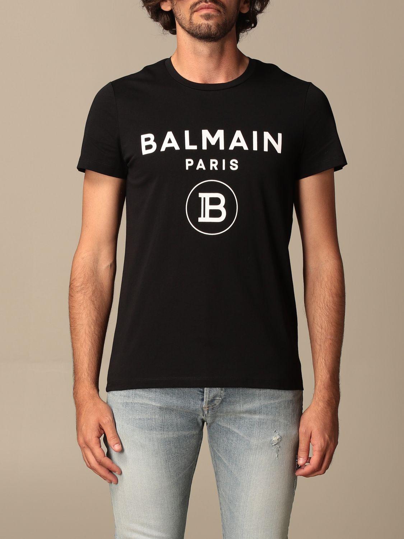T-shirt Balmain: Balmain cotton T-shit with logo black 1